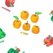 The Very Hungry Caterpillar DAYS OF THE WEEK Cotton Fabric 7233 X
